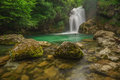 Vintgar Gorge waterfall, Slovenia