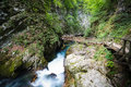 Vintgar valley tne most beautiful place slovenia Royalty Free Stock Image