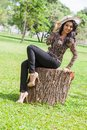 Vinu udani is a actress in srilanka news paper photoshoot at colombo Stock Image