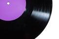 Vinyl disc with purple label