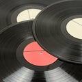 Vinyl discs isolated on white Royalty Free Stock Photos