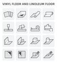 Vinyl linoleum floor