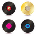 Vinyl lp vintage discs Stock Photo