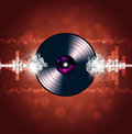 Vinyl Music Waves Background Stock Photo