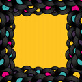 Vinyl Record Background With S...