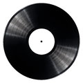 Vinyl record black isolated on white background Stock Image
