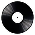 Vinyl record black isolated on white background Stock Image