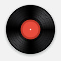 Vinyl record blank on white background Royalty Free Stock Image