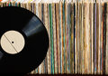 Vinyl record on a collection of albums Royalty Free Stock Photo