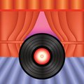 Vinyl record colorful illustration with for your design Royalty Free Stock Photography
