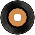 Vinyl record cutout isolated on white background Royalty Free Stock Photography