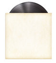 Vinyl record disc LP in paper sleeve Royalty Free Stock Photo