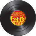 Vinyl record with disco fever Royalty Free Stock Photo