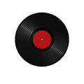 Vinyl record illustration of an isolated Royalty Free Stock Photo