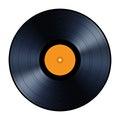 Vinyl Record Isolated On White...