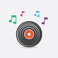 Vinyl Record Music Notes Royalty Free Stock Photo