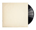 Vinyl record old in a paper case Royalty Free Stock Photography