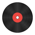 Vinyl record with red label Royalty Free Stock Photo