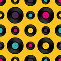 Vinyl Record Seamless Backgrou...