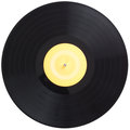 Vinyl Record Spinning Isolated...