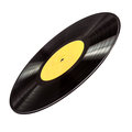 Vinyl record on white isolated Royalty Free Stock Photography