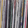 Vinyl records close up shot Royalty Free Stock Images