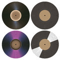 Vinyl records collection Royalty Free Stock Photo