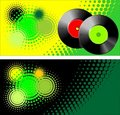 Vinyl retro style vector Stock Photography