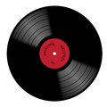Vinyl 33rpm Record With Red Label Royalty Free Stock Photo