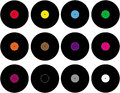 Vinyl set of different colored Stock Photo
