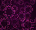 Violet abstract circles background Images libres de droits