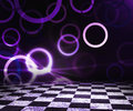 Violet abstract stage background Royalty-vrije Stock Foto's
