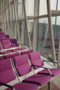 Violet Air port seat Royalty Free Stock Photography