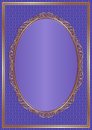 Violet background with golden frame Royalty Free Stock Images