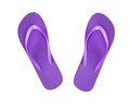 Violet beach shoes flip flop isolated on white Royalty Free Stock Images