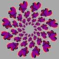 Violet butterflies