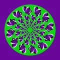 Violet butterflies_ green circle