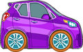 Violet cartoon car Stock Photos
