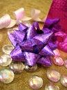 Violet celebration bow Royalty Free Stock Photo