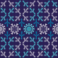 Violet christmas seamless pattern (vector) Royalty Free Stock Images