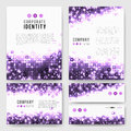 Violet circles identity-1 Royalty Free Stock Photo