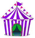 A violet circus tent illustration of on white background Royalty Free Stock Photo