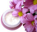 Violet container cream Royalty Free Stock Photo