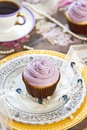 Violet cupcake Royalty Free Stock Photos