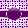 Violet design pattern card Stock Photography