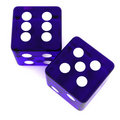 Violet Dice Royalty Free Stock Images