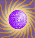 Violet disco ball Stock Photo