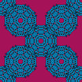 Violet ethnic mandala pattern background vector illustration with round hand drawn stylized flowers pink and blue colors Stock Photos