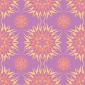 Violet floral seamless background. Pink and yellow bright pattern
