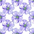 Violet flowers by watercolor Royalty Free Stock Photo